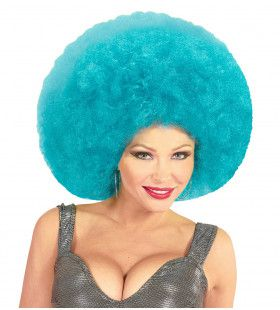 Soul Diva Pruik, Afro Extra Groot Azuur