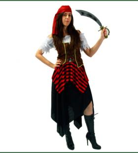 Hijs De Vlag Pirate Vrouw Kostuum