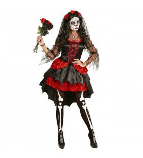 Mazarita Bruid Dia De Los Muertos Vrouw Kostuum