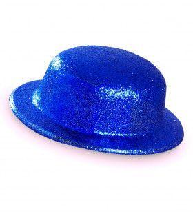 Showmaster Glitter Bolhoed, Blauw