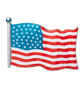 Amerikaanse Vlag Usa 62x44cm