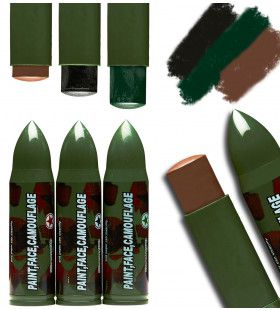 Army Gezicht En Lichaam Make-Up Camouflage