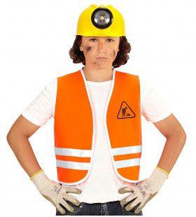 Oranje Wegwerker Vest, Kind Kind