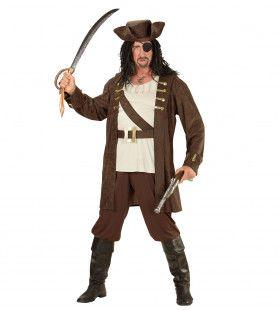 Bruine Piraten Man Kostuum