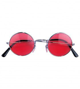 Freaky Bril, Hippie Rood Glas
