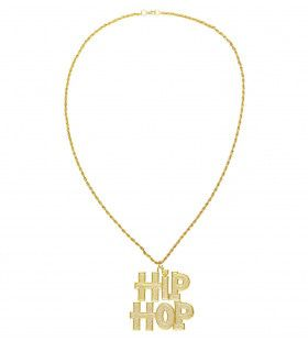 Gangsta Ketting Hiphop Goud