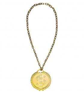 Gangsta Hiphop Dollar Ketting Lang