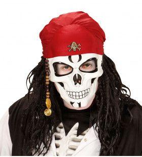 Eng Piraten Schedel Masker Met Baard