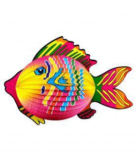 Tropische Vis Lampion 40cm