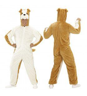 Dieren Onesie Plushe Bulldog Kostuum