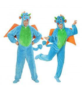 Fantasie Onesie Plushe Draak Kostuum
