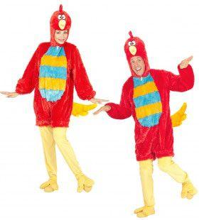 Fantasie Onesie Pluche Rode Vogel Kostuum
