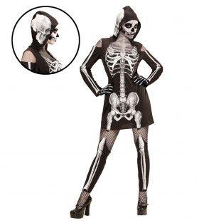 Hoodie Jurk Skelet Meisje Vrouw