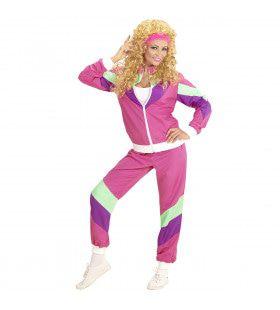 Maaskantje Trainingspak Roze Vrouw Kostuum