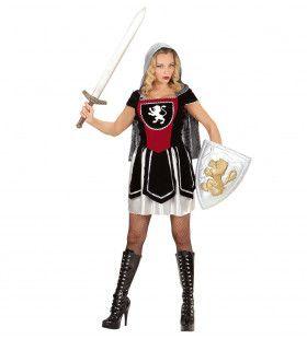 Strijdbare Vrouwelijke Ridder Kostuum