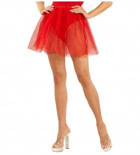 Doorschijnende Petticoat Rood