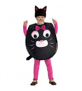 Smiley Kat Grote Ogen Meisje Kostuum
