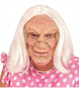 Masker 100 Jarige Oude Vrouw Met Haar