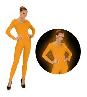 Neon Oranje Bodysuit Glow Vrouw Kostuum