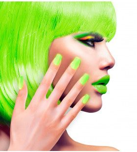 Nagels Airbrush Neon Groen 80s Lady
