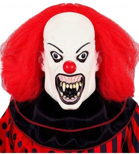 Masker Gladde Killer Clown Met Pruik