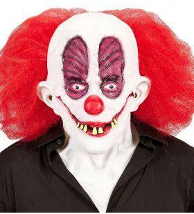 Masker Gekke Clown Slechte Gebit Met Haar Incl. Nek