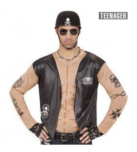 Biker Shirt Motorman Tiener Jongen