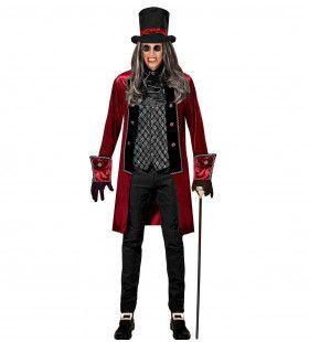 Victoriaanse Vampier Grijsbrecht Man Kostuum