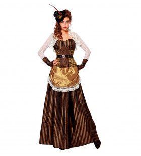 Steampunk Vrouw Golda Kostuum