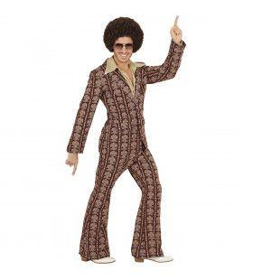 Groovy George 70s Heren Kostuum, Old School Man