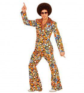 Groovy George 70s Heren Kostuum, Luchtbellen Man