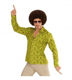 Groovy Garry 70s Heren Shirt, Behang Man