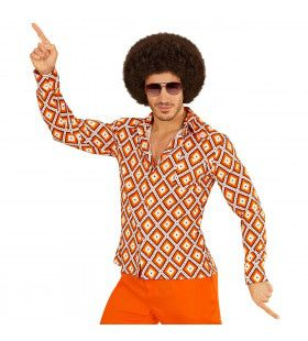 Groovy Garry 70s Heren Shirt, Ruit Man
