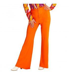 Groovy Gwendolyn 70s Dames Broek, Oranje Vrouw
