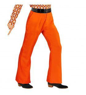 Groovy Gandalf 70s Heren Broek, Oranje Man