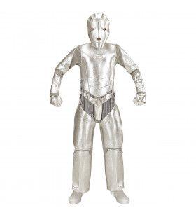 Space Invader Tin Man Jongen Kostuum