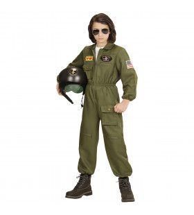 Gevechtspiloot Cruising Altitude Jongen Kostuum