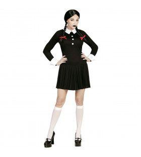 Donker Meisje Gothic University Vrouw Kostuum