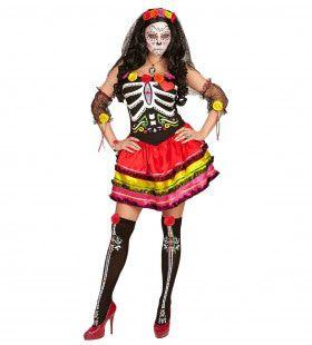 Dia De Los Muertos Chapala Vrouw Kostuum