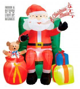 Opblaasbare Kerstman Met Geschenken 244cm