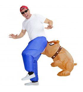 Bil Bijtende Bulldog, Opblaasbaar Man Kostuum