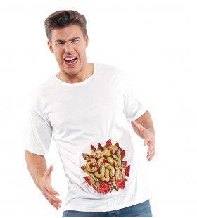 T-Shirt Met 3d Ingewanden Man