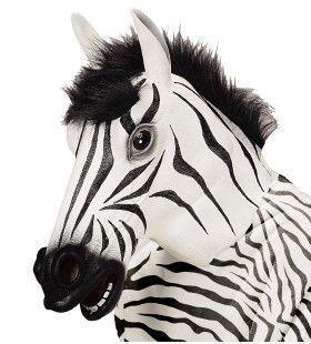 Cartoony Masker, Zebra Met Haar