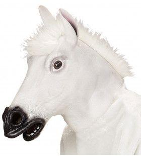 Cartoony Masker, Wit Paard Met Haar
