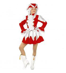 Brabantse Majorette Rood Vrouw Kostuum