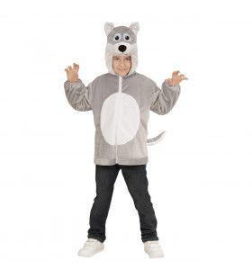 Hoodie 98 Centimeter Huilende Wolf Kind