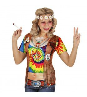 T-Shirt Hippie Helen High Vrouw