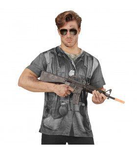T-Shirt Marine Corps Camouflage Grijs Man