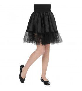 Zwarte Rock And Roll Petticoat Meisje