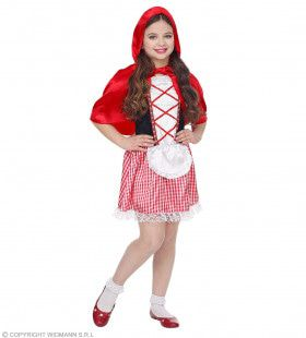 Sprookjesmeisje Roodkapje Kostuum